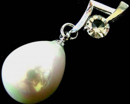 WHITE PEARL PENDANT 20.00 CTS [PF303]