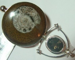 FOSSIL JEWELRY /SILVER PENDANT 80  CTS TBG-42