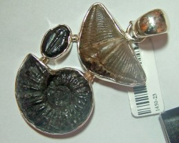 FOSSIL JEWELRY /SILVER PENDANT  100 CTS TBG-45