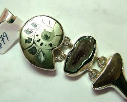 FOSSIL JEWELRY /SILVER PENDANT  81 CTS TBG-78