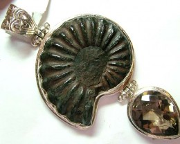 FOSSIL JEWELRY /SILVER PENDANT  149 CTS TBG-18