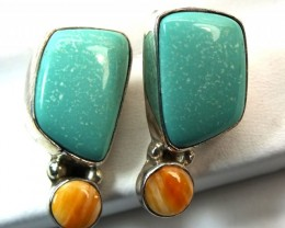 CORAL TORQUOISE  EARRING 22  CTS TBJ-4