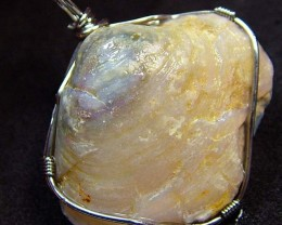 NATURAL SHELL FOSSIL PENDANT 64.15 CTS [GT740]