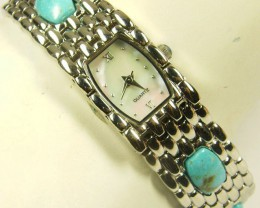 GEMSTONE  TURQUOISE  WATCH  278.55 CARATS AAT 1620