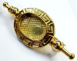 Estate Brooch 18 k gold stamped hallmark 750 TB25