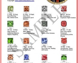 TEN MAYAN ZODIAC CALENDARS  FREE SHIPPING