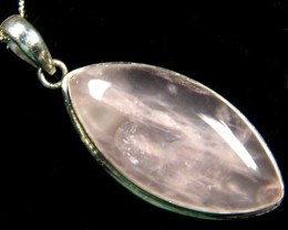 XTRA LARGE BEAUTIFUL ROSE QUARTZ PENDANT 75CTS A1087