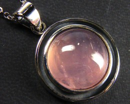 ROSE QUARTZ GEMSTONE  SILVER PENDANT  GRR 242