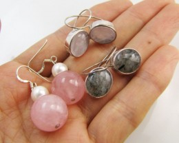 3  GEMSTONE EARRINGS-RE SELLERS PARCEL   MJA1175