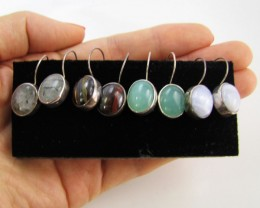 4 MIXED GEMSTONE EARRINGS-RE SELLERS PARCEL   MJA1158