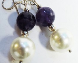 45Cts Amethyst Pair Earrings HS1359