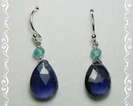 Quality African Iolite .925 Silver Earrings JW16