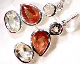 SUNSTONE EARRINGS  12.45  CTS  TBJ-542