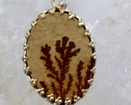 FERN LEAF FOSSIL PENDNAT 22  CTS RT 879
