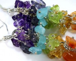 MIXED GEMSTONE EARRINGS 50.40  CTS  ADJ-160