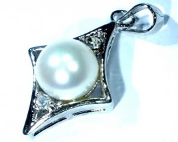 PEARL SILVER PENDANT11.0  CTS LJ-79