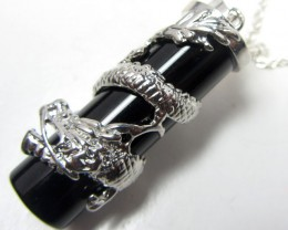 55 CTS DRAGON DESIGN BLACK QUARTZ  MYGM 477
