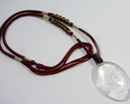 58 CTS NATURAL QUARTZ ON NECKLACE GG 951