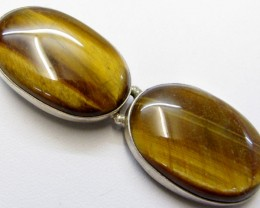 DUAL TIGERS EYE PENDANT   MJA 261