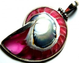 SHELL JEWELRY PENDANT  925 SILVER  38CTS  LJ-61