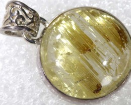 RUTILATED QUARTZ PENDANT 26.80 CTS  TBJ-785