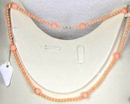 Necklace   LK0633 PINKISH/WHITISH CORAL BEAD