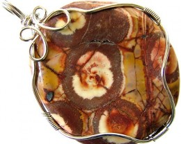 LARGE BIRDS EYE JASPER [MEXICO]  PENDANT 81.35 CTS [GT988 ]