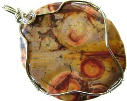LARGE BIRDS EYE JASPER [MEXICO]  PENDANT 105.45 CTS [GT995 ]