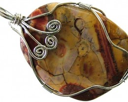 LARGE BIRDS EYE JASPER [MEXICO]  PENDANT 79.10 CTS [GT1009 ]