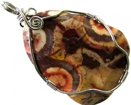 LARGE BIRDS EYE JASPER [MEXICO]  PENDANT 58.70 CTS [GT1014 ]