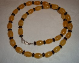 YELLOW GARNET AND DEEP  WINE GARNET NECKLACE