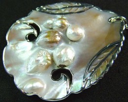 PEARL SHELL PENDANT 73 CTS [MX2038 ]