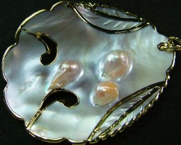 PEARL SHELL PENDANT 67 CTS [MX2058 ]