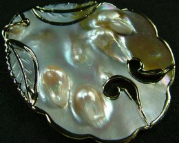 PEARL SHELL PENDANT 69 CTS [MX2079 ]