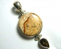 FOCAL PENDANT PICTURE JASPER SILVER BALE 95 CTS SG-2170