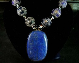 1460 CTS OLD TRIBAL  LAPIS  NECKLACE  STRAND   11 176
