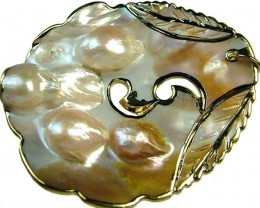 PEARL SHELL PENDANT 96 CTS [MX1540 ]