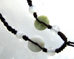 JADE NECKLACE -ADJUSTABLE 16.00 CTS [GT771  ]