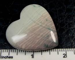 136 CTS CUTE HEART SHAPE WAVE JASPER PENDANT GG 243