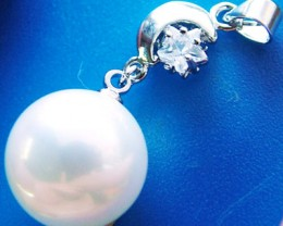 WHITE PEARL PENDANT   14MM  26CTS [PF740]