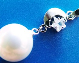 WHITE PEARL PENDANT 11.5 MM  17CTS [PF741]