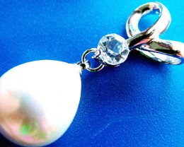 WHITE PEARL PENDANT 15 X 12 MM  22CTS [PF749]