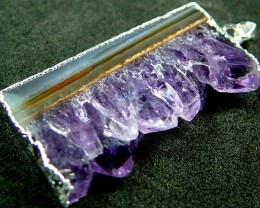 AMETHYST GEODE - SLICE WITH BAIL 55.6 CTS [MX2370 ]