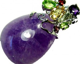 AMETHYST  PENDANT WITH 6 NATURAL STONES. 58.70 CTS [GT1170 ]