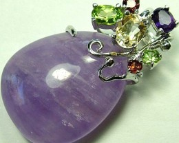 AMETHYST  PENDANT WITH 6 NATURAL STONES. 56.65 CTS [GT1173 ]