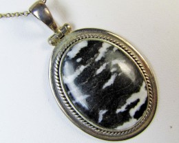 Attractive Black-White Jasper pendant   MJA 308