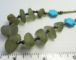 TURQUOISE/HOWLITE  FLUROITE NECKLACE MJA 195