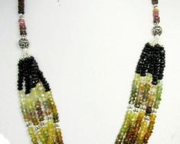201 CTS FINEMIXED TOURMALINE  NECKLACE   GG1091