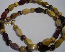 NEW - 23 INCH LONG MULTI-COLORED MOOKAITE NECKLACE