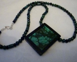 NEW - 17 1/2 INCH LONG MALICHITE NECKLACE